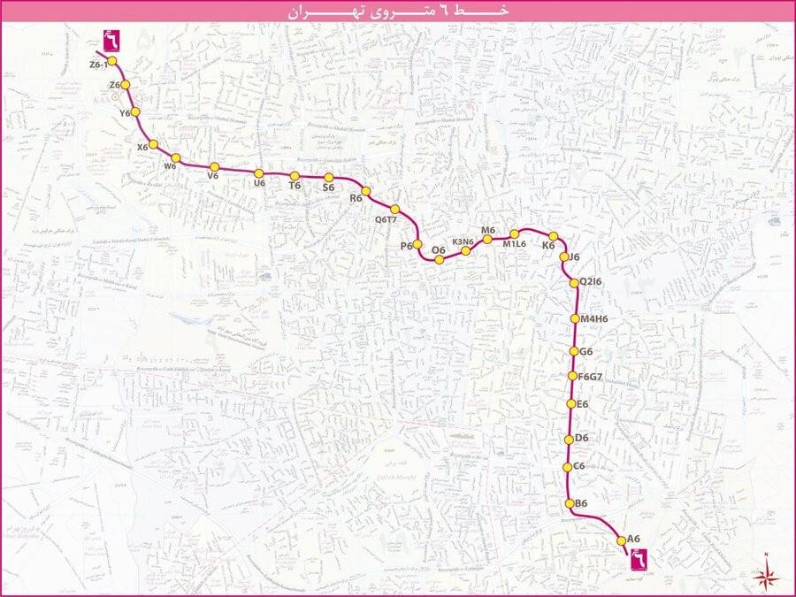 metro line 6 tehran