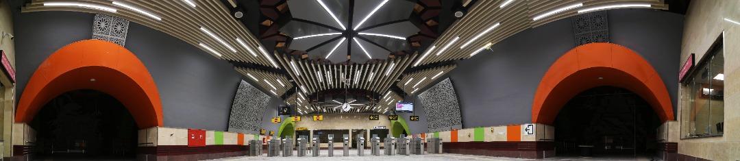 Shahrak Azmayesh station tickethall